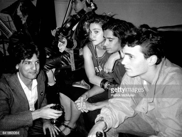 Reid Roosfelt Madonna John 'Jellybean' Benitez and friend at Dallas Boesendahl's party for Amadeus at Limelight Wednesday September 12 1984