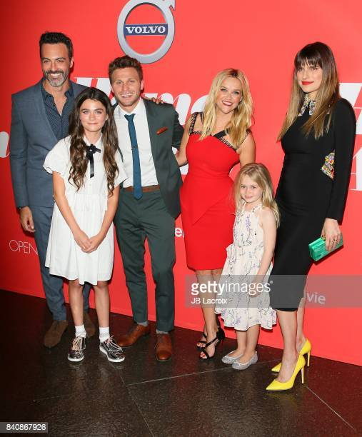 Reid Scott Lola Flanery Jon Rudnitsky Reese Witherspoon Eden Grace Redfield and Lake Bell attend the premiere of Open Road Films' 'Home Again' on...