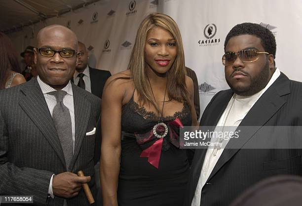 Reid, Serena Williams and Rodney Jerkins during Jay-Z Celebrates The Grand Opening of The 40/40 Club in Atlantic City at The 40/40 Club in Atlantic...