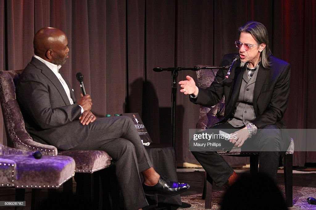 L.A. Reid speaks onstage with GRAMMY Foundation Vice President Scott Goldman during Icons of the Music Industry: L.A. Reid at The GRAMMY Museum on February 9, 2016 in Los Angeles, California.