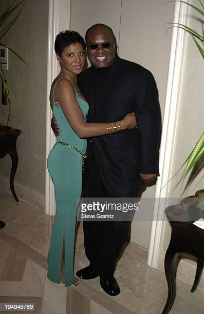 LA Reid Toni Braxton during The 28th Annual American Music Awards Arista Records After Party at St Regis Hotel in Century City California United...