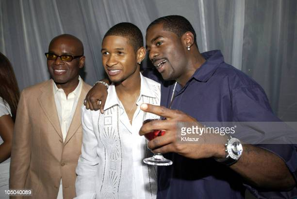 "Reid, Usher and Loon during Usher Celebrates Multi-Platinum Album ""8701"" which has Sold 5 Million Copies Worldwide at Pier 59 Studios in New York..."