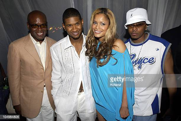 LA Reid Usher Blu Cantrell and Donell Jones during Usher Celebrates MultiPlatinum Album '8701' which has Sold 5 Million Copies Worldwide at Pier 59...