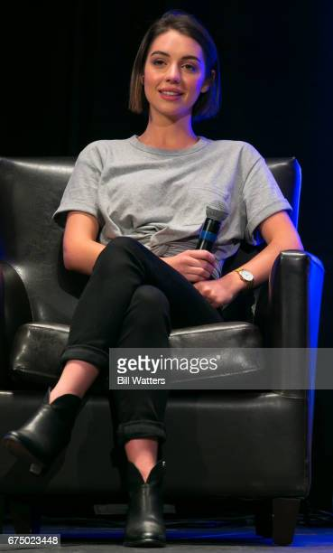 Reign actress Adelaide Kane speaks speaks during a panel at Planet Comicon Kansas City at the Kansas City Convention Center on April 29 2017 in...