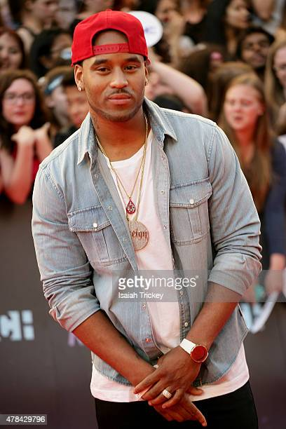 P Reign arrives at the 2015 MuchMusic Video Awards at MuchMusic HQ on June 21 2015 in Toronto Canada