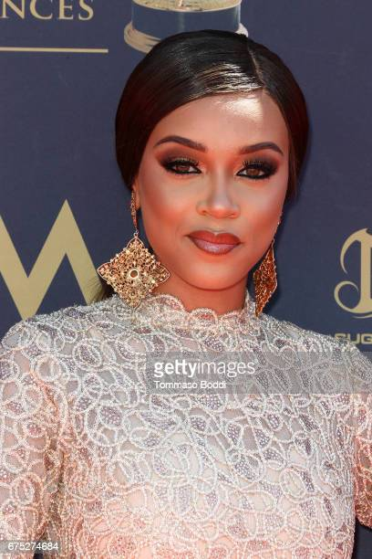 Reign Edwards attends the 44th Annual Daytime Emmy Awards at Pasadena Civic Auditorium on April 30 2017 in Pasadena California