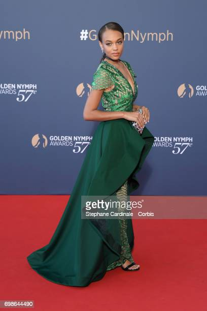 Reign Edwards attends the 57th Monte Carlo TV Festival Closing Ceremony on June 20 2017 in MonteCarlo Monaco