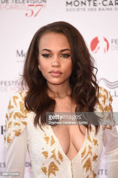 Reign Edwards attends the 57th Monte Carlo TV Festival Opening Ceremony on June 16 2017 in MonteCarlo Monaco