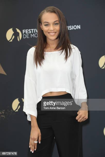 Reign Edwards attends 'The Bold and The Beautiful' Photocall as part of the 57th Monte Carlo TV Festival at the Grimaldi Forum on June 18 2017 in...