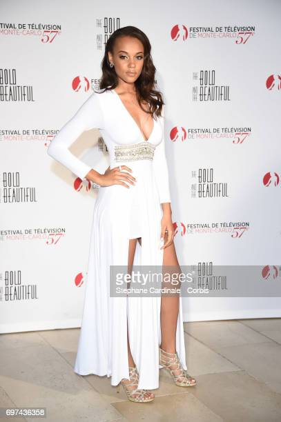 Reign Edwards attends the 'The Bold and The Beautiful' 30th Anniversary during the 57th Monte Carlo TV Festival Day 3 on June 18 2017 in MonteCarlo...