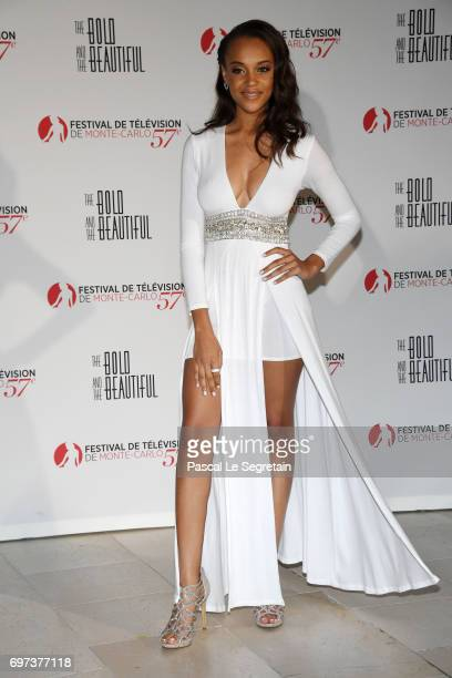 Reign Edwards attends the 'The Bold and The Beautiful' 30th Years anniversary during the 57th Monte Carlo TV Festival Day 3 on June 18 2017 in...