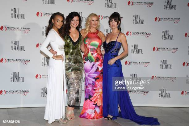 Reign EdwardsHeather TomKatherine Kelly Lang and Jacquelines MacInnes Wood attend the 'The Bold and The Beautiful' 30th Years anniversary during the...