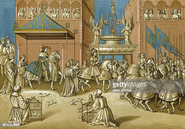 Reign of Charles VII of France The entrance of the King in Paris On November 12 1437 According to a miniature