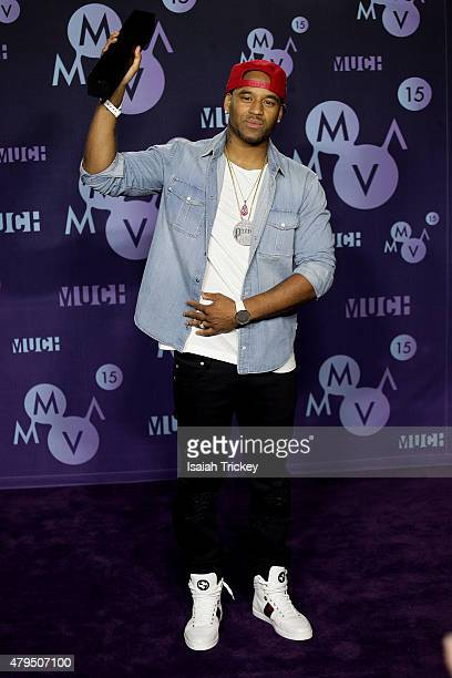 P Reign poses in the press room at the 2015 Much Music Video Awards at MuchMusic HQ on June 21 2015 in Toronto Canada