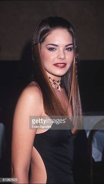 Reigning Miss USA Kimberly Ann Pressler Poses For Photographers January 11 2000 At The 2000 Miss USA Pageant Launch Party In New York City