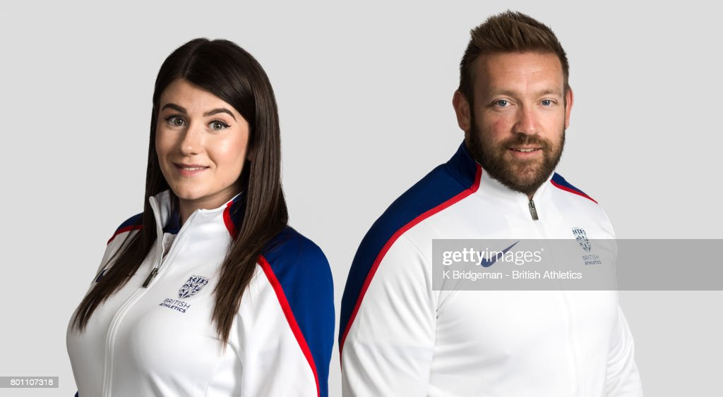 Reigning Paralympic and world F46 javelin champion Hollie Arnold (left) and nine-time Paralympic and world medallist Dan Greaves pose for a portrait to mark their selection as Team Captains to represent the British team at the World Para Athletics Championships London 2017 on June 25, 2017 in Loughborough, England. The captains were democratically elected by their peers in the British squad, achieving the highest number of votes, and will lead the 51-strong squad into this summer's championships on home soil between 14-23 July 2017.