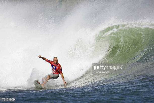 Reigning seven times ASP world champion Kelly Slater from Cocoa Beach Florida USA continued his hopes of clinching an eighth world title when he...