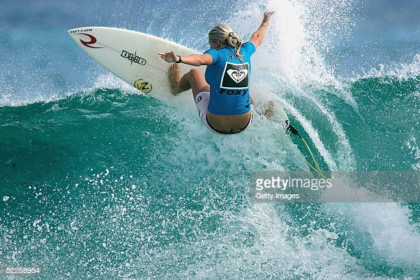 reigning U18 world women's amateur champion Stephanie Gilmore of Australia competes in round one of the Roxy Pro the first event on the ASP World...