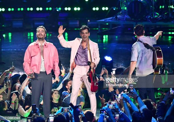 Reik performs onstage during the 2020 Spotify Awards at the Auditorio Nacional on March 05, 2020 in Mexico City, Mexico.