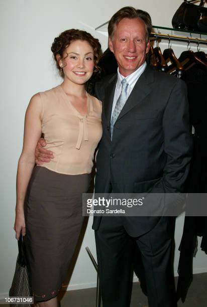 Reiko Aylesworth and James Woods during Cerruti and David Cardona CoHost Private Party to Celebrate the Opening of Cerruti Beverly Hills Benefiting...