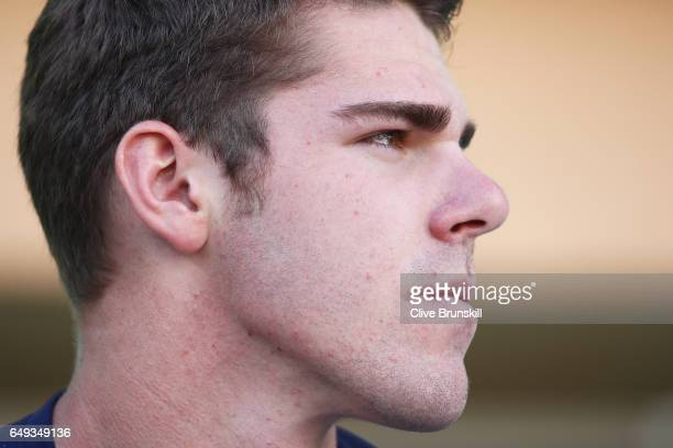 Reilly Opeelka of the United States at the ATP launch event for the Next Gen ATP Finals MilanItaly in November during day two of the BNP Paribas Open...