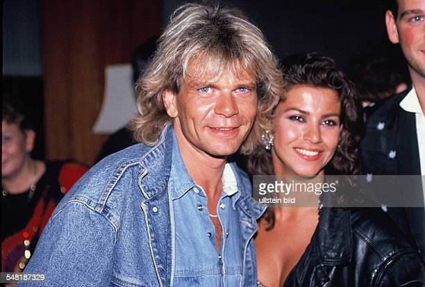 Reim Matthias Musician Singer Pop Music Gernany with Wife Mago 1990