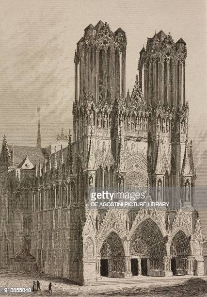 Reims Cathedral France engraving by Lemaitre from France deuxieme partie L'Univers pittoresque published by Firmin Didot Freres Paris 1845