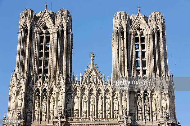Reims cathedral towers and kings' gallery