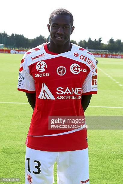 Reims' football club French midfielder Hassane Kamara poses on September 28 2015 at the Louis Bleriot training center in Reims northeastern France...