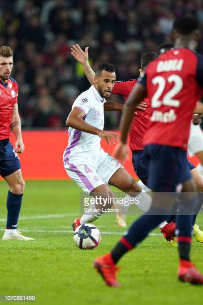 Reims' JacquesAlaixys Romao during Ligue 1 match between Lille OSC and Stade de Reims at Stade Pierre Mauroy on December 9 2018 in Lille France