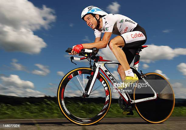 Rein Taaramae of Estonia and Cofidis in action during stage nine of the 2012 Tour de France, a 41.5km individual time trial, from Arc-et-Senans to...
