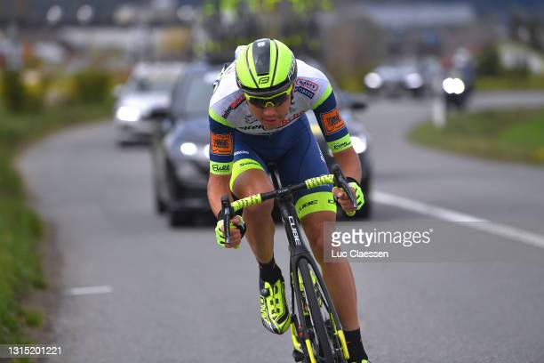 Rein Taaramae of Estonia and Team Intermarché - Wanty - Gobert Matériaux attacks in the Breakaway during the 74th Tour De Romandie 2021, Stage 2 a...
