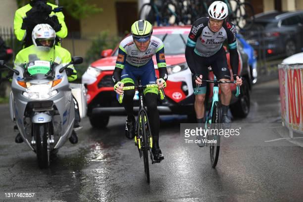 Rein Taaramae of Estonia and Team Intermarché - Wanty - Gobert Matériaux & Christopher Juul Jensen of Denmark and Team BikeExchange in the Breakaway...