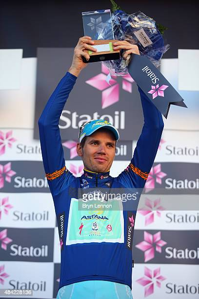 Rein Taaramae of Estonia and the Astana Pro Team celebrates winning the 2015 Arctic Race of Norway, on the final stage from Narvik to Narvik, on...