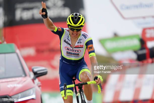 Rein Taaramäe of Estonia and Team Intermarché - Wanty - Gobert Matériaux celebrates winning during the 76th Tour of Spain 2021, Stage 3 a 202,8km...