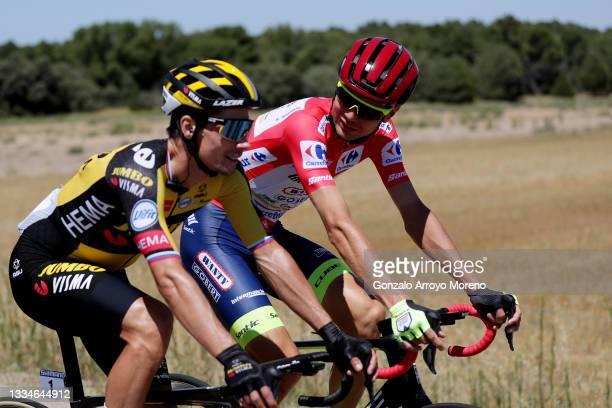 Rein Taaramäe of Estonia and Team Intermarché - Wanty - Gobert Matériaux red leader jersey competes during the 76th Tour of Spain 2021, Stage 4 a...