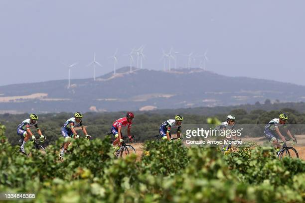 Rein Taaramäe of Estonia and Team Intermarché - Wanty - Gobert Matériaux Red Leader Jersey and Teammates during the 76th Tour of Spain 2021, Stage 5...