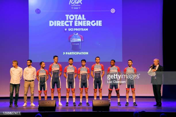 Rein Taaramäe of Estonia and Team Total Direct Energie / Jonathan Hivert of France and Team Total Direct Energie / Jeremy Cabot of France and Team...