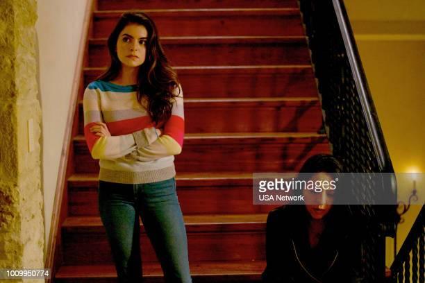 """Reina de Espadas"""" Episode 307 -- Pictured: Sandy Valles as Isabella Vargas, Veronica Falcon as Camila --"""