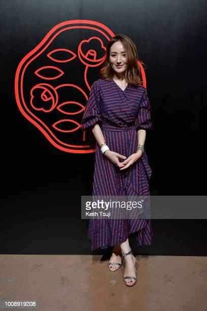 Reina Hoshi attends the Shiseido Makeup Tokyo Launch Event on August 1 2018 in Tokyo Japan