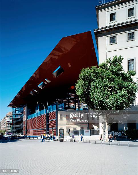 Reina Sofia Museum, Madrid, Spain, Architect Jean Nouvel Reina Sofia Museum General Vew Of The Extension And The Palacio Sabatini.