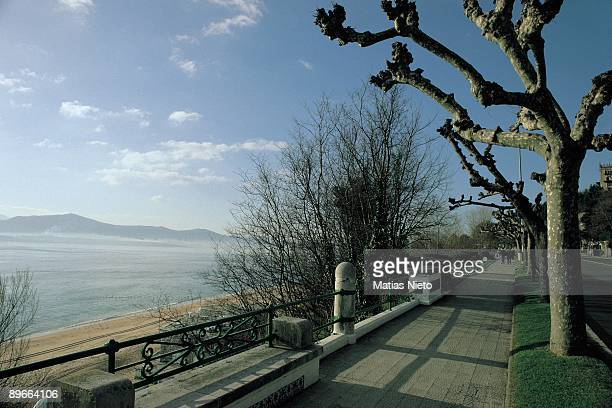 Reina Victoria Avenue Santander Cantabria Panoramic view of the big avenue of the city next to the sea