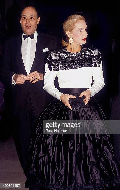 Reinaldo and Carolina Herrera attend the Spanish Institute Gala at the Plaza Hotel New York New York 1990s