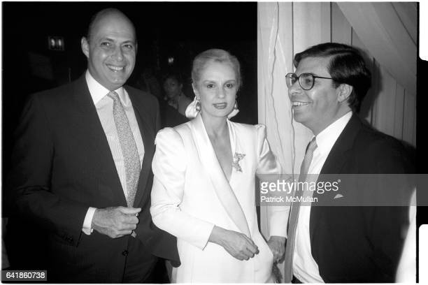 Reinaldo and Carolina Herrera Bob Colacello at the opening night of the Palladium May 14 1985