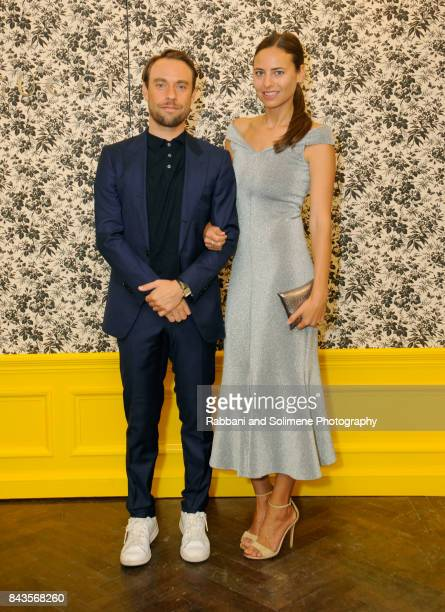 Reinaldo Leandro and Ariel Ashe attend Susan Chokachi and Linda Fargo host a private dinner to introduce Gucci Decor at BG Restaurant Bergdorf...