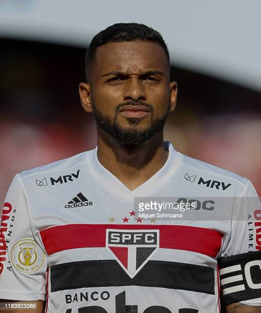 Reinaldo of Sao Paulo looks on before a match between Sao Paulo and Atletico MG for the Brasileirao Series A 2019 at Morumbi Stadium on October 27,...