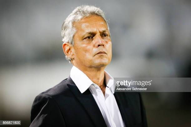 Reinaldo Rueda head coach of Flamengo in action during the match between Ponte Preta and Flamengo for the Brasileirao Series A 2017 at Moises...