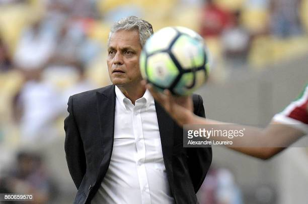 Reinaldo Rueda head coach of Flamengo in action during the match between Flamengo and Fluminense as part of Brasileirao Series A 2017 at Maracana...