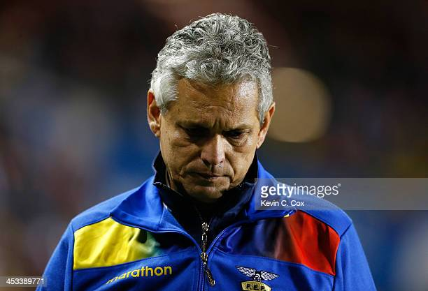 Reinaldo Rueda manager of the Ecuador national team against Honduras during an international friendly match at BBVA Compass Stadium on November 19...