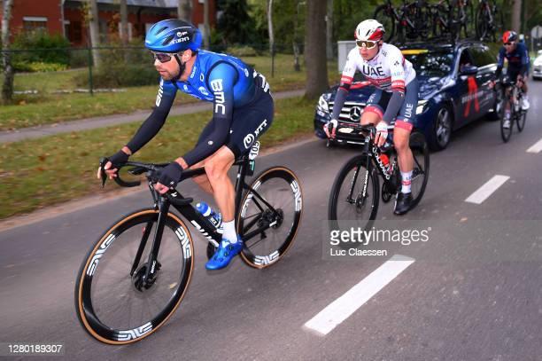 Reinardt Janse Van Rensburg of South Africa and NTT Pro Cycling Team / Jasper Philipsen of Belgium and UAE Team Emirates / during the 108th...